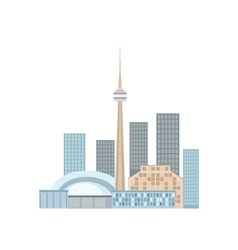 Toronto Skyline View As A National Canadian vector image