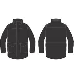 Unisex element jacket designs vector