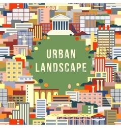 Urban landscape 1 vector image