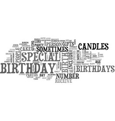 what is a birthday text word cloud concept vector image