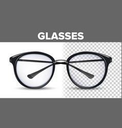 woman female glasses black classic eyewear vector image