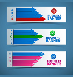 abstract business banners set vector image
