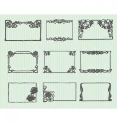 Art Nouveau horizontal frame set vector image vector image