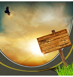 flying eagle road vector image vector image