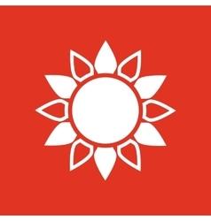 The sun icon Sunrise and sunshine weather sun vector image vector image