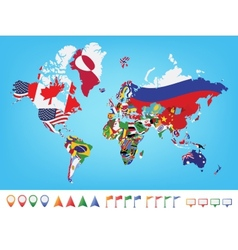 World map country flags vector images over 5200 world map with flag vector gumiabroncs Images