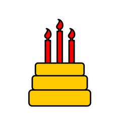 birthday cake sign logo dessert for holiday cake vector image vector image