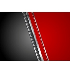 Contrast red black tech background vector image