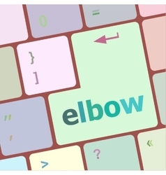 elbow button on computer pc keyboard key vector image