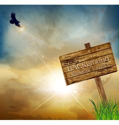 flying eagle background vector image vector image