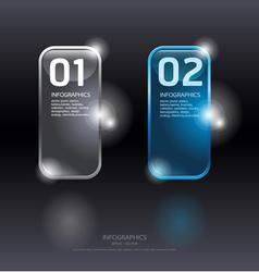 Glass framework set Transparent glass plates vector image vector image