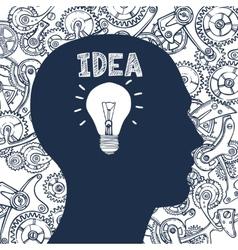 Lightbulb man idea vector image