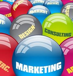 Marketing metaphor vector image