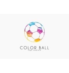 soccer mall logo colorful soccer ball crative vector image