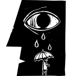 Umbrella tears vector