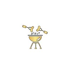 Grill computer symbol vector image