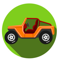icons off-road vehicle with long shadow extreme vector image