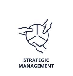 strategic management line icon outline sign vector image