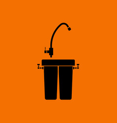 water filter icon vector image