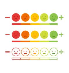 feedback emoticon emoji smile icon vector image