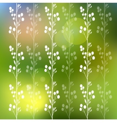 Floral background with flowers and leaves vector image