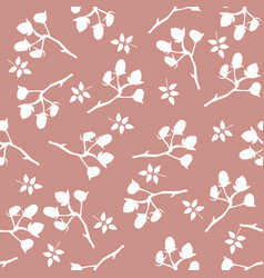 floral seamless pattern hand drawn creative vector image