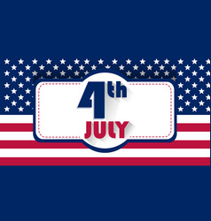 independence day usa patriotick stock image the vector image