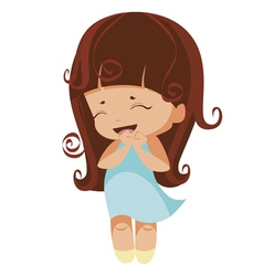 kawaii brunette princess vector image vector image
