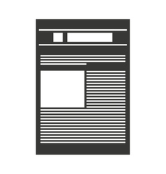 newspaper paper news icon vector image