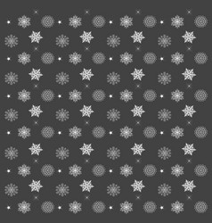 pattern with snowflakes gray background - vector image