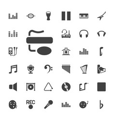 33 sound icons vector