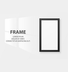 3d realistic black vertical wooden simple vector image
