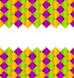 Abstract Pattern for Mardi Gras wirh Green Purple vector image