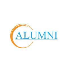 Alumni law logo design with words vector