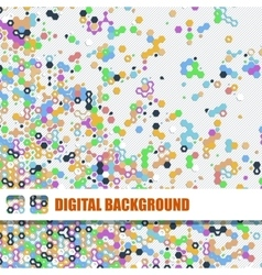 background of different color hexagons vector image