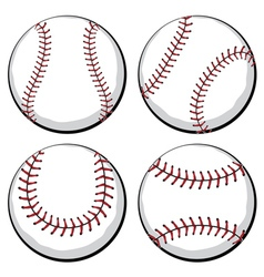 Baseball Ball Set vector image