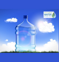 Big bottle with clean fresh water vector
