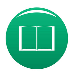 book novel icon green vector image