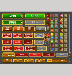 Buttons for slots game vector image
