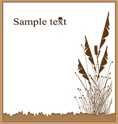 card grass Brown vector image