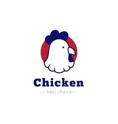 chicken head logo vector image