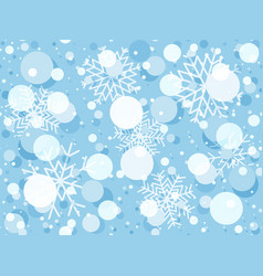 christmas seamless pattern with snowflakes winter vector image