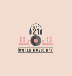 collection of celebration world music day vector image