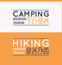 conceptual for web a hike in vector image