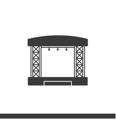 Concert stage image vector