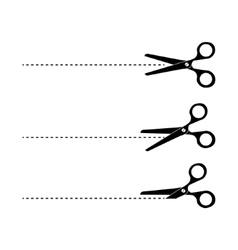 Cut Here Scissors vector