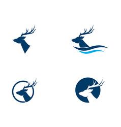 deer icon design vector image
