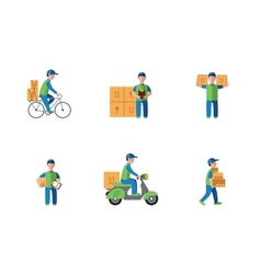Delivery courier logistics flat style vector