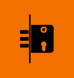 Door lock icon vector