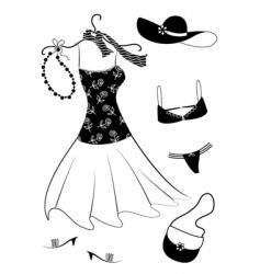 Dresses women vector